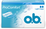 Az o.b.® ProComfort™ Light Days tampon két cseppes termék, ami azt jelenti, hogy használata gyenge vérzés esetére ajánlott.
